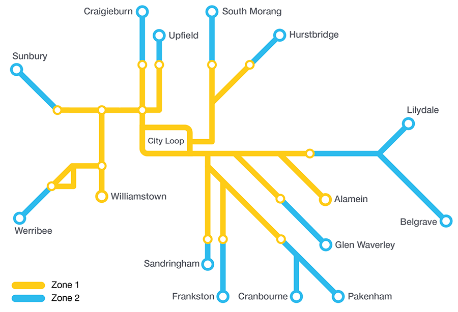 Network Map Metro Trains