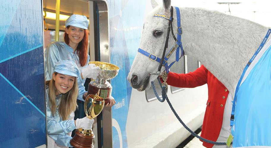 Subzero horses around at Caulfield | Metro Trains